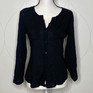 Old Navy button front shirt black Small